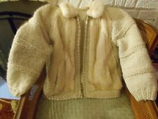 Pretty Vintage Blond Fully Lined 100% Mink Fur & Knit Sweater Coat Small/Med