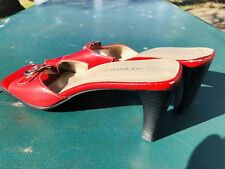 Women's Merona Sandals Slides, Red, Size 8.5