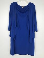 Dressbarn Jacket Dress Women's Plus 22W Blue Fall Formal Wedding Party NWOT