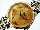 MAURICE LACROIX MENS TEXTURED DIAL GOLD ROUND BORROM DATE EU SHIP SERVICED WATCH