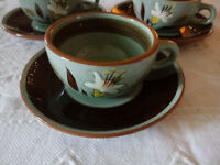 Stangl Golden Harvest White Lily Hand Painted Pottery Cup Mug Saucer Lot
