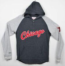 Chicago Bulls Men's Sz Medium Mitchell & Ness Gray Lightweight Pullover Hoodie