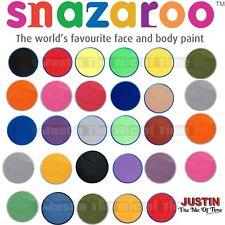 18ml SNAZAROO FACE & BODY PAINT MAKE UP HALLOWEEN PAINTS FANCY DRESS 57 COLOURS