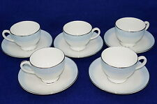 "Wedgwood Mayfair (5) Cups, 2 3/4"" & (5) Saucers, 5 7/8"""
