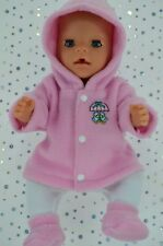 "Play n Wear Doll Clothes To Fit 17"" Baby Born PINK JACKET~TIGHTS~BOOTIES"