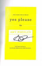 Amy Poehler SIGNED Yes Please Hardcover Book SNL Parks UCB COA