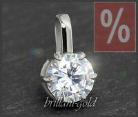 Diamant Brillant Anhänger 1,12 ct; Top Wesselton, Si; 585 Gold Damenanhänger