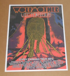 WOLFMOTHER Victorious Official 2016 Silkscreen Gypsy Caravan Tour Poster 18x24