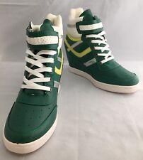 WILD DIVA LOUNGE Wedge Hightops Sneakers Trainer Boot Green 7UK 40EU 10US