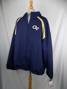 Georgia Tech Yellow Russell Athletic Zip Up Warmup Jogging Jacket Sz 3XL NWT