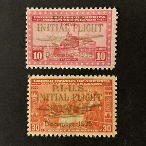 U2/108 US Philippines Stamp Airmail Scott C52 C53 10c 30c 2 MNHOG V. Beautiful