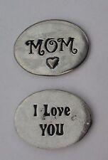 cc Mom I love you spirit HANDCRAFTED PEWTER POCKET TOKEN CHARM basic