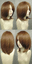 MEIKO COS New Fashion Short Brown Cosplay Party wig+free wig cap