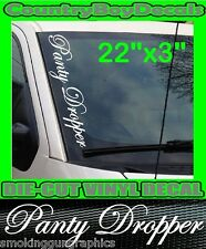 Panty Dropper VERTICAL Windshield Vinyl Decal Sticker Truck Car Boost Turbo 4X4