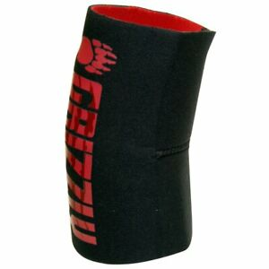 Grizzly Fitness Elbow Sleeve - Retains Heat, Heals, Reversible Design Black /Red