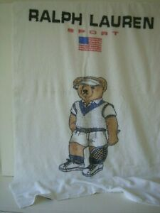 RARE RALPH LAUREN POLO BEAR Sports (Tennis ) Bath / Beach Towel RRP £149.00