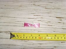 Dusty Rose pink ribbon bows for sewing crafting pageants HUGE BAG FULL NEW NOS