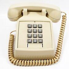 Vintage ITT Push Button Telephone Beige Desk Phone 183499-103