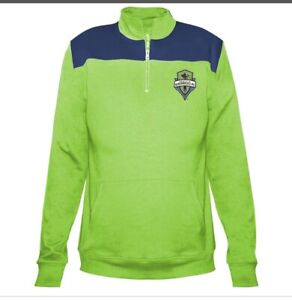 SEATTLE SOUNDERS FC WOMENS MAJESTIC LONG SLEEVE 1/4-ZIP PULLOVER TOP SZ 3XL NWT