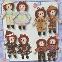 "Simplicity 3945 Raggedy Ann & Andy 15"" Dolls Uncut PL19"