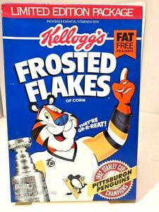 Frosted Flakes Pgh Penguins 1992 Stanley Cup Champs Full Unopened Cereal Box