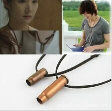 Korean Drama City Hunter Lee MinHo & Park's bullet shell necklace Made in Korea
