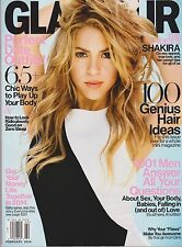 GLAMOUR Magazine Feb 2014, SHAKIRA ON FLIP-OVER COVERS, 100 Best New Hair Ideas.