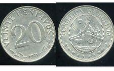 BOLIVIE   20 centavos 1971