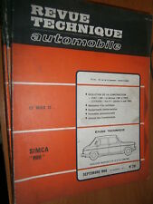 Simca 1100 5-6 CV 68-69 : revue tech RTA 281