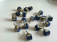 100pcs 6-Pin DPDT ON-OFF-ON Toggle Switch 6A 125VAC