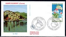 FRANCE FDC - 885 1794 2 SAINT FLORENT CORSE COQUILLAGE 11 5 1974 - LUXE