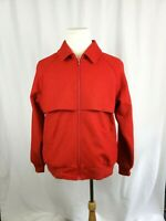VTG PENDLETON Mens Size Medium Red Bomber 100% Virgin Wool Full Zip Jacket