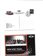 MINI MOTORSPORT WRC TEAM POSTCARD 'SALES BROCHURE'  2011