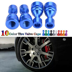 Universal Car Tire Tyre Blue Wheel Air Port Dust Cover Valve Stem Caps Alloy