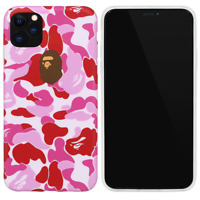 A Bathing Ape Bape Pink Camo Cover Case For iPhone 11 Pro Max XS XR 8 7 Plus SE