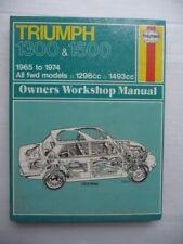 TRIUMPH  1300  & 1500.  1965 - 1974.  HAYNES  WORKSHOP  MANUAL.