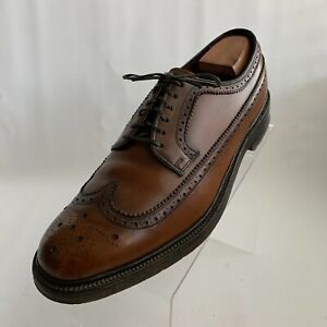 Hanover LB Sheppard Signatures Oxfords Brown Leather Wingtip Brogue Shoes 10D
