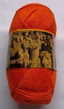 Lot 2 skeins  300 g - 100% Superfine ALPACA Fingering Knitting Yarn - ORANGE