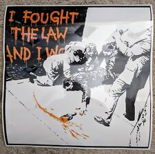 "Banksy - I Fought the Law 2004. Laminated Re-Print. 18"" x 18"". Graffiti Art"