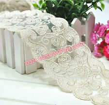 HB16 6cm,1 Yard Dress Skirt Handicrafts Embroidered Net Lace Trim Ribbon Sewing