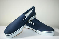 Castaway Men's Casual Navy Canvas Textile Slip On Trainers Deck Shoes Size12 NEW