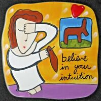 "Sandra Magsamen For Silvistri "" Believe in Your Intuition "" Ceramic Wall Plaque."