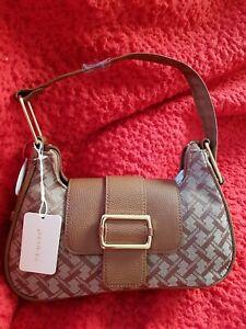 Cute Monogram Handbag Vintage Look Tan /Brown Brand New Shoulder Bag Primark