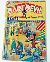 Bong Daredevil Comic #18 Vintage Aug 1943 Anti-Axis WWII Charles Biro cover