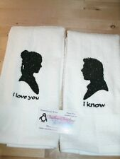 Star Wars I Love You I Know Personalized Dish Kitchen Hand Towels ANY COLOR
