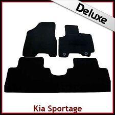Kia Sportage Mk2 2004-2008 2-eyelets Tailored LUXURY 1300g Carpet Car Mats BLACK