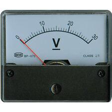 ANALOG EINBAUMESSWERK 30 VDC 72x62x36mm Klasse 2,5 Neuware