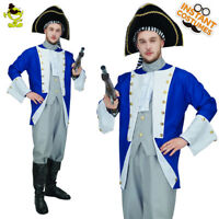 Colonial General Costume Halloween Costumes for Adult Mens Party Dress