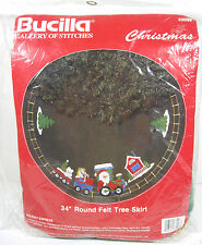 Bucilla Holiday Express Felt Tree Skirt Kit Santa Train Beads Sequins Christmas