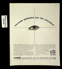 1943 York Refrigeration Air Conditioning War Production Vintage Print Ad 20015